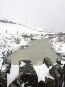 Riverside Cottage B&B Doolin River Frozen snow